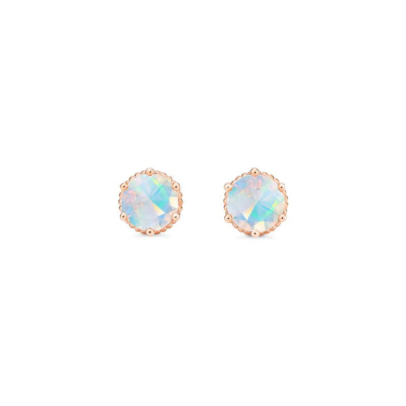 [Evelyn] Vintage Classic Crown Earrings in Opal - Earrings - Michellia Fine Jewelry