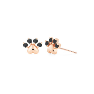 [Beans] Dog & Cat Paw Diamond Earrings - Earrings - Michellia Fine Jewelry