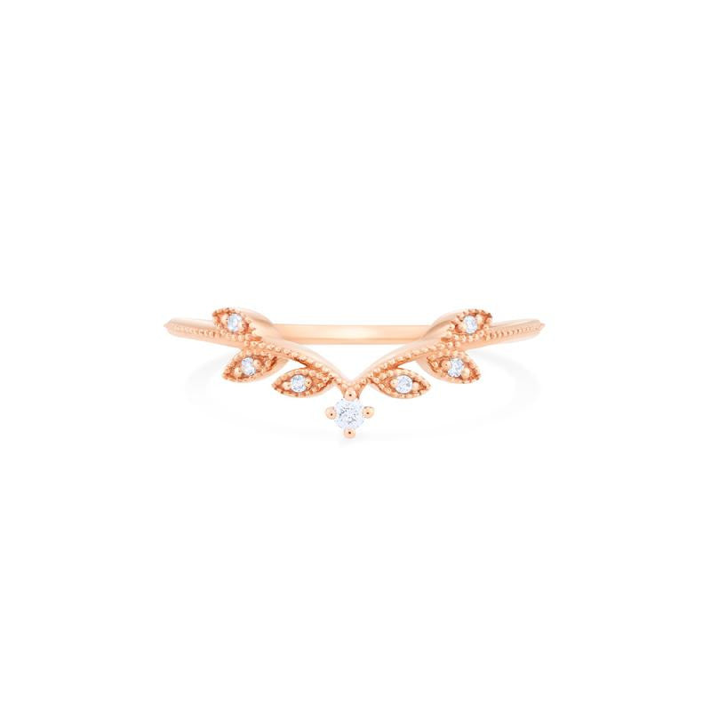 [Florence] Vintage Leaf Band - Michellia Fine Jewelry