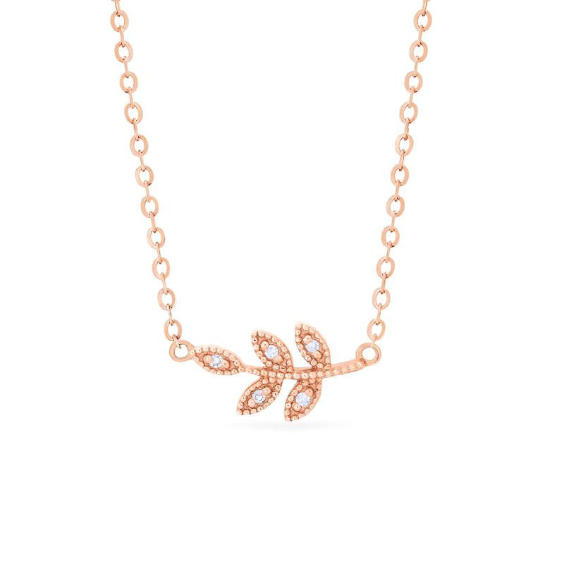 [Viridis] Petite Leaf Necklace - Necklace - Michellia Fine Jewelry