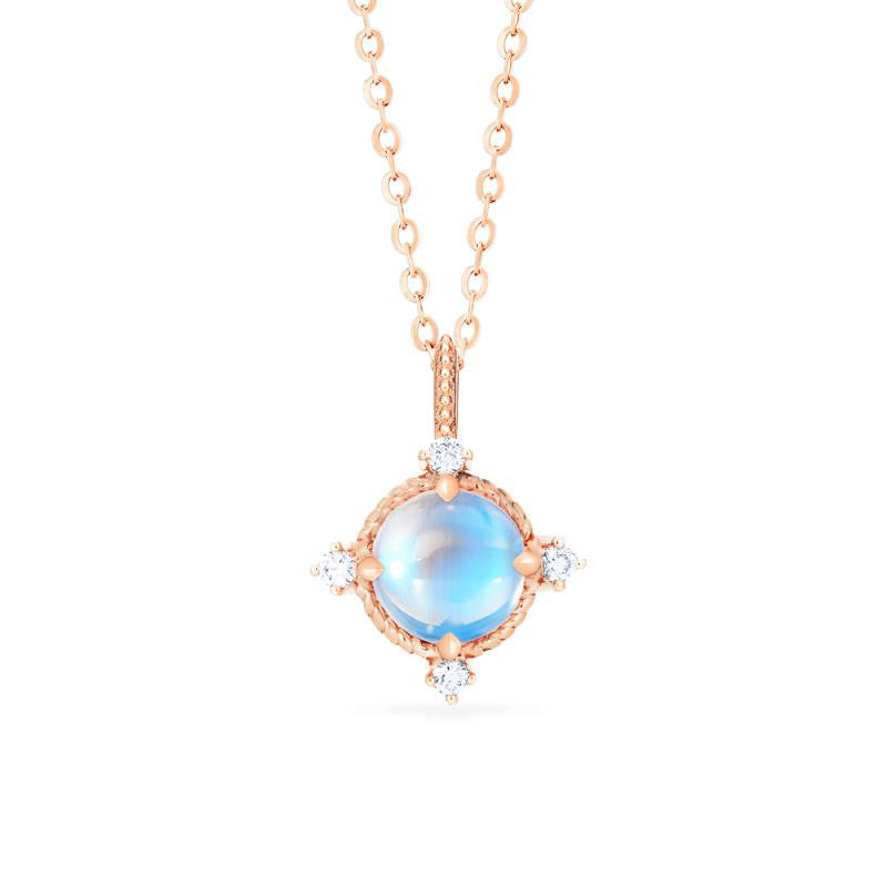 [Stella] Aura of Galaxy Necklace in Moonstone - Necklace - Michellia Fine Jewelry