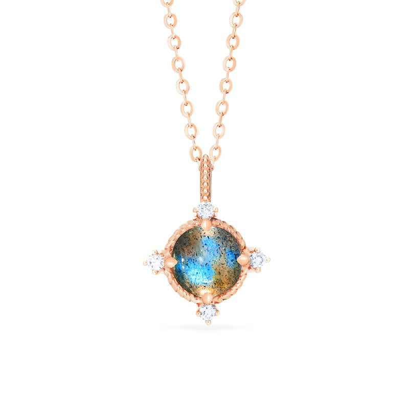 [Stella] Aura of Galaxy Necklace in Labradorite - Necklace - Michellia Fine Jewelry