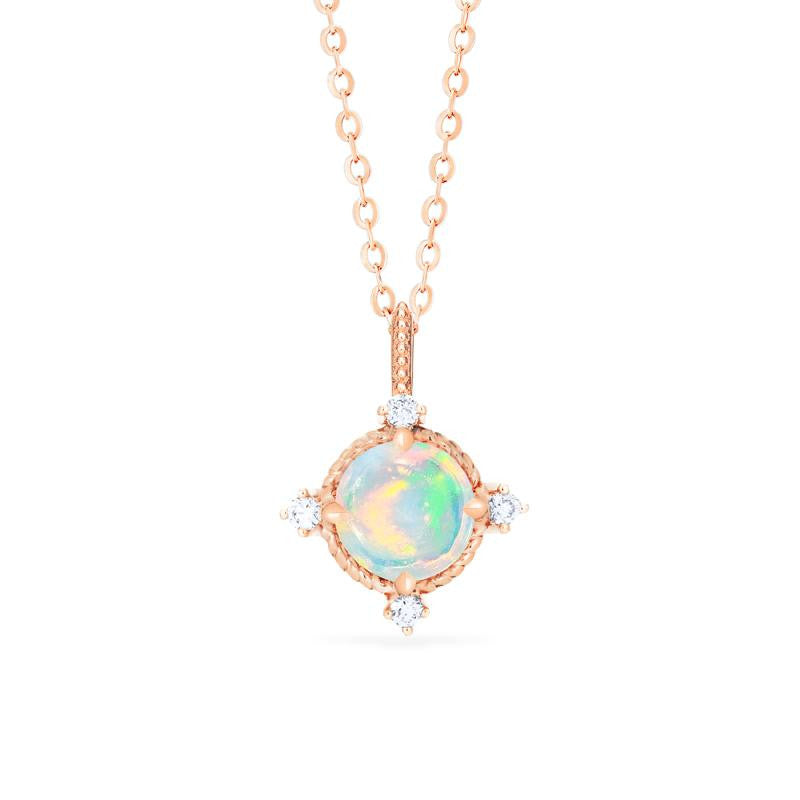 [Stella] Aura of Galaxy Necklace in Opal - Necklace - Michellia Fine Jewelry
