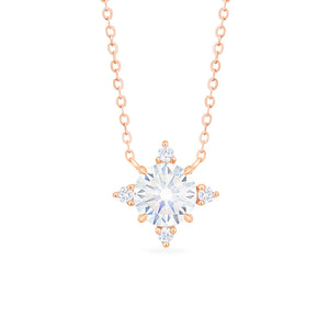 [Polaris] North Star Necklace in Moissanite - Necklace - Michellia Fine Jewelry