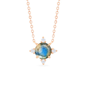 [Polaris] North Star Necklace in Labradorite - Necklace - Michellia Fine Jewelry