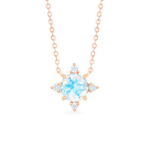 [Polaris] North Star Necklace in Moonstone - Necklace - Michellia Fine Jewelry