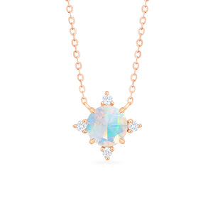 [Polaris] North Star Necklace in Opal - Necklace - Michellia Fine Jewelry