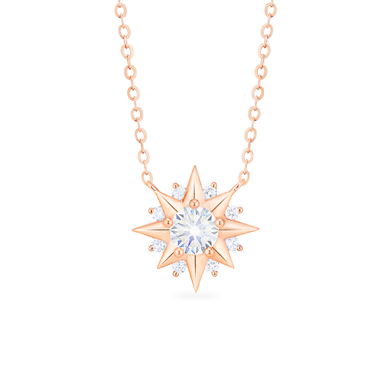 [Astra] Starlight Necklace in Moissanite - Necklace - Michellia Fine Jewelry