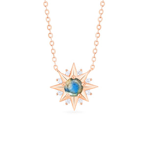 [Astra] Starlight Necklace in Labradorite - Necklace - Michellia Fine Jewelry