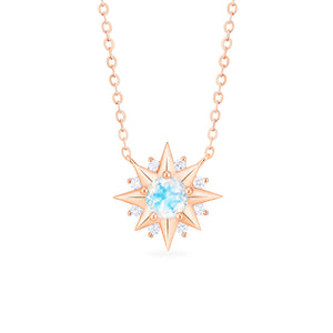 [Astra] Starlight Necklace in Moonstone - Necklace - Michellia Fine Jewelry