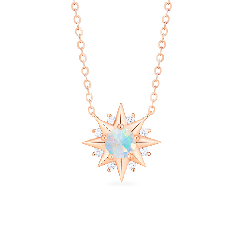 [Astra] Starlight Necklace in Opal - Necklace - Michellia Fine Jewelry