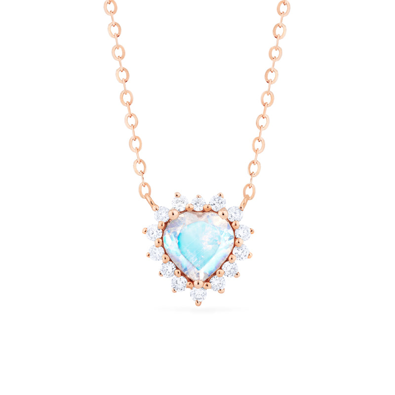 [Cordelia] Heart of the Sea Necklace in Moonstone - Necklace - Michellia Fine Jewelry