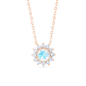 [Rosalie] Vintage Bloom Necklace in Moonstone - Necklace - Michellia Fine Jewelry