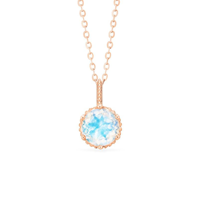[Evelyn] Vintage Classic Crown Necklace in Moonstone - Michellia Fine Jewelry