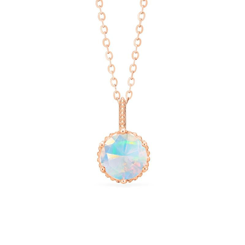 [Evelyn] Vintage Classic Crown Necklace in Opal - Michellia Fine Jewelry