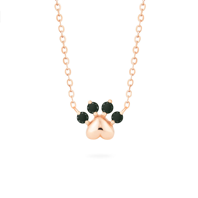 [Beans] Dog & Cat Paw Diamond Necklace - Necklace - Michellia Fine Jewelry