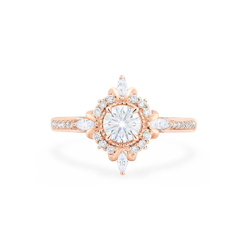 [Astrid] Art Deco Petite Ring in Moissanite - Women's Ring - Michellia Fine Jewelry