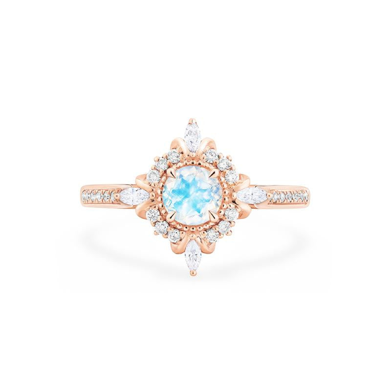 [Astrid] Art Deco Petite Ring in Moonstone - Michellia Fine Jewelry