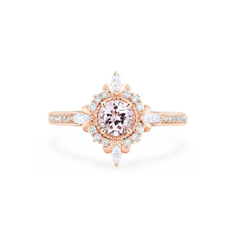 [Astrid] Art Deco Petite Ring in Morganite - Michellia Fine Jewelry