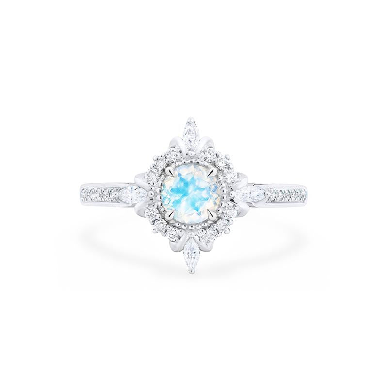 [Astrid] Ready-to-Ship Art Deco Petite Ring in Moonstone - Women's Ring - Michellia Fine Jewelry