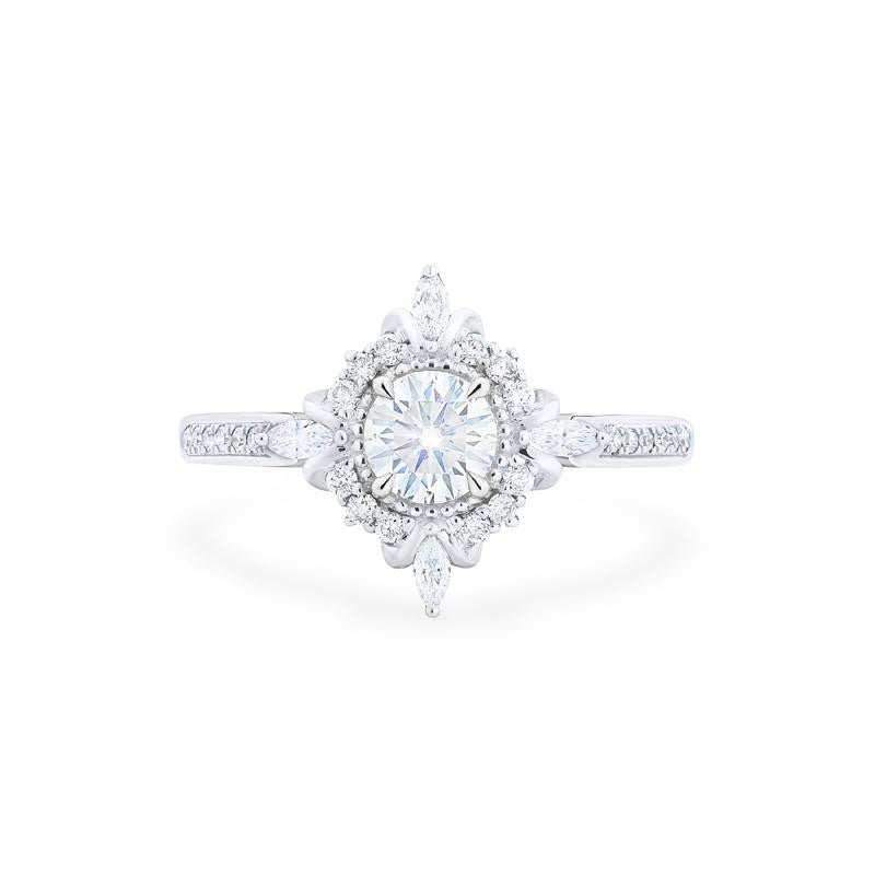 [Astrid] Ready-to-Ship Art Deco Petite Ring in Moissanite - Women's Ring - Michellia Fine Jewelry