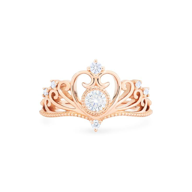 [Ingrid] Heirloom Tiara Ring in Moissanite - Michellia Fine Jewelry
