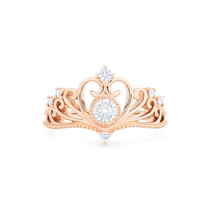 [Ingrid] Swan Lovers Tiara Ring in Moissanite - Women's Ring - Michellia Fine Jewelry