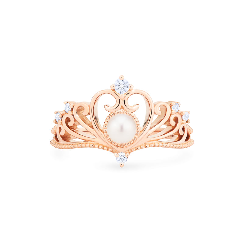 [Ingrid] Swan Lovers Tiara Ring in Akoya Pearl - Women's Ring - Michellia Fine Jewelry