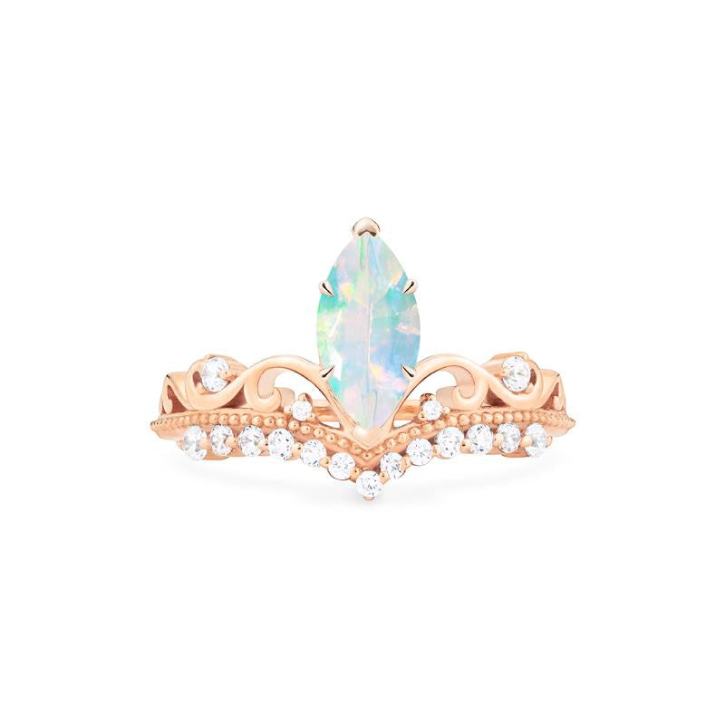 [Windsor] Heirloom Crown Marquise Cut Ring in Opal - Michellia Fine Jewelry