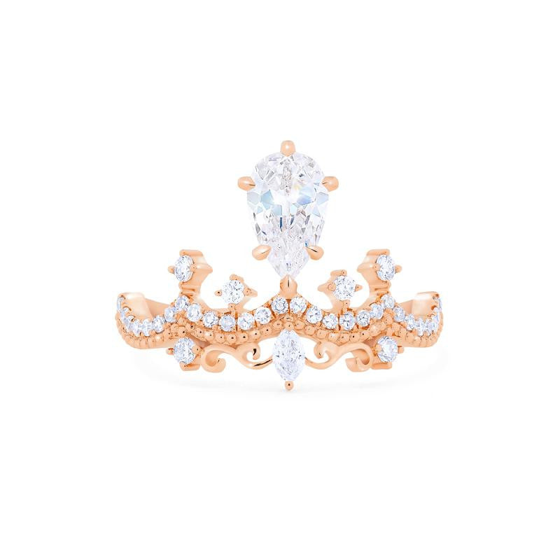 [Antoinette] Victorian Chandelier Ring in Moissanite
