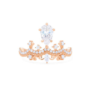 [Antoinette] Victorian Chandelier Ring in Moissanite - Michellia Fine Jewelry