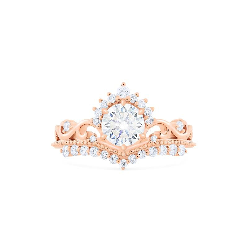 [Theia] Ready-to-Ship Heirloom Crown Ring in Moissanite - Michellia Fine Jewelry