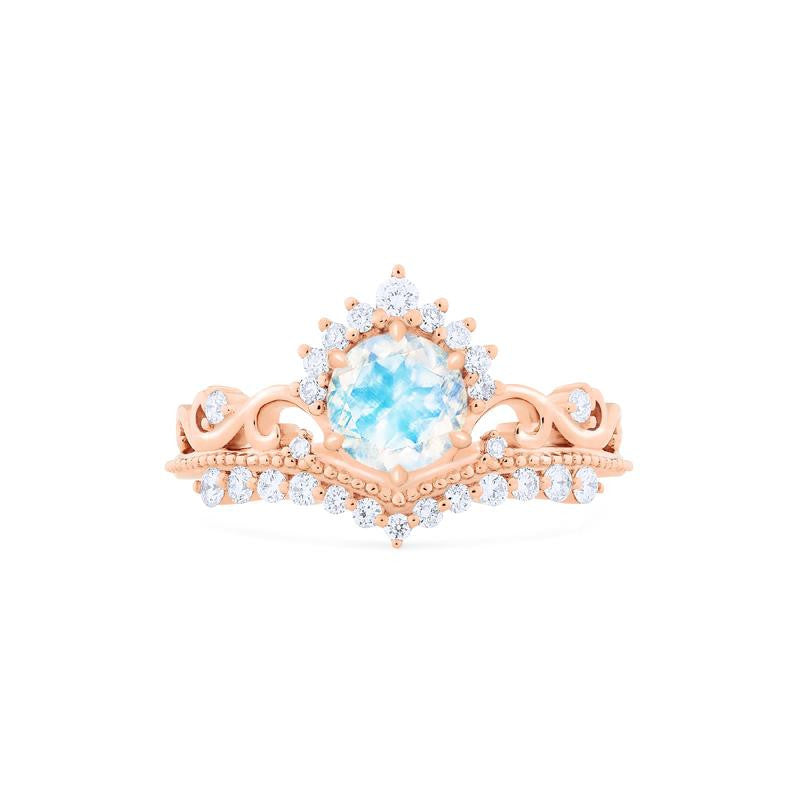 [Theia] Ready-to-Ship Heirloom Crown Ring in Moonstone - Michellia Fine Jewelry