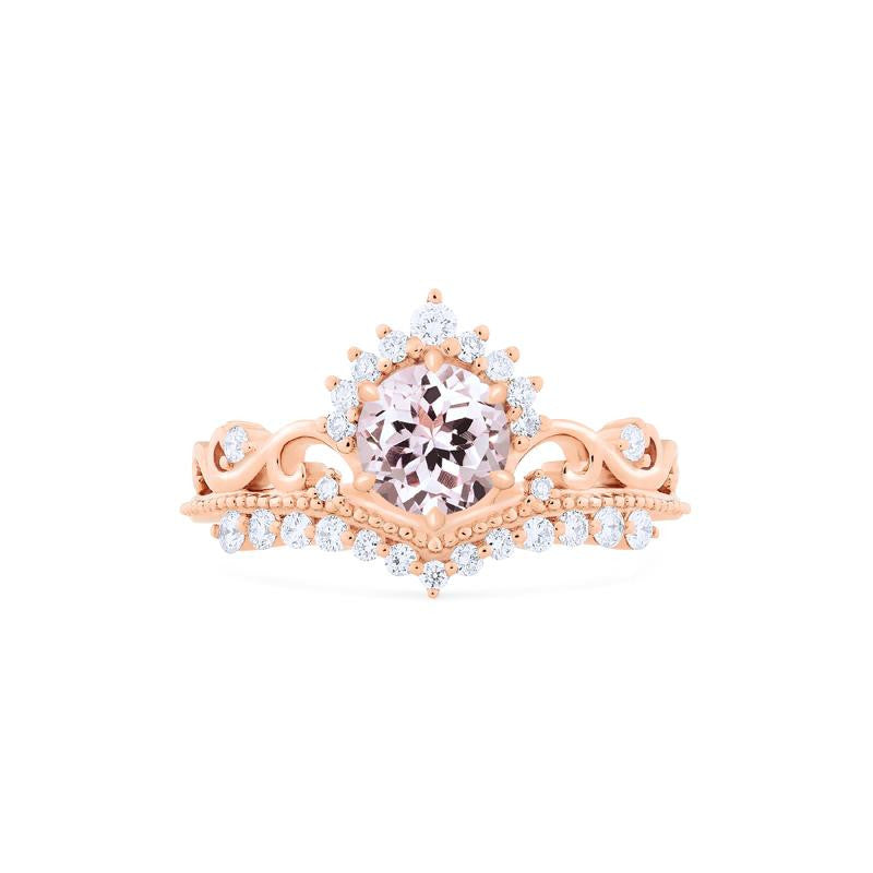 [Theia] Heirloom Crown Ring in Morganite - Michellia Fine Jewelry