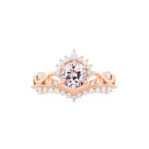 [Theia] Heirloom Crown Ring in Morganite