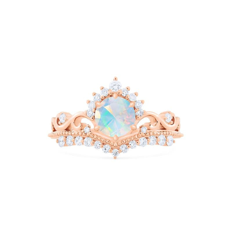 [Theia] Ready-to-Ship Heirloom Crown Ring in Opal - Michellia Fine Jewelry
