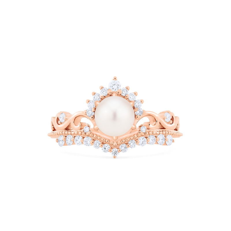 [Theia] Heirloom Crown Ring in Akoya Pearl - Women's Ring - Michellia Fine Jewelry