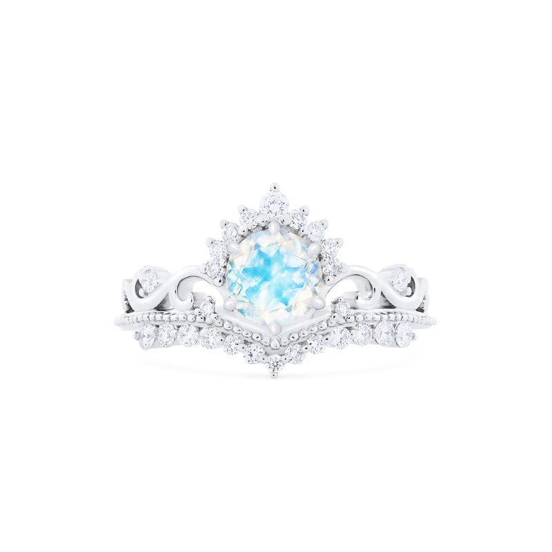 [Theia] Ready-to-Ship Heirloom Crown Ring in Moonstone - Women's Ring - Michellia Fine Jewelry
