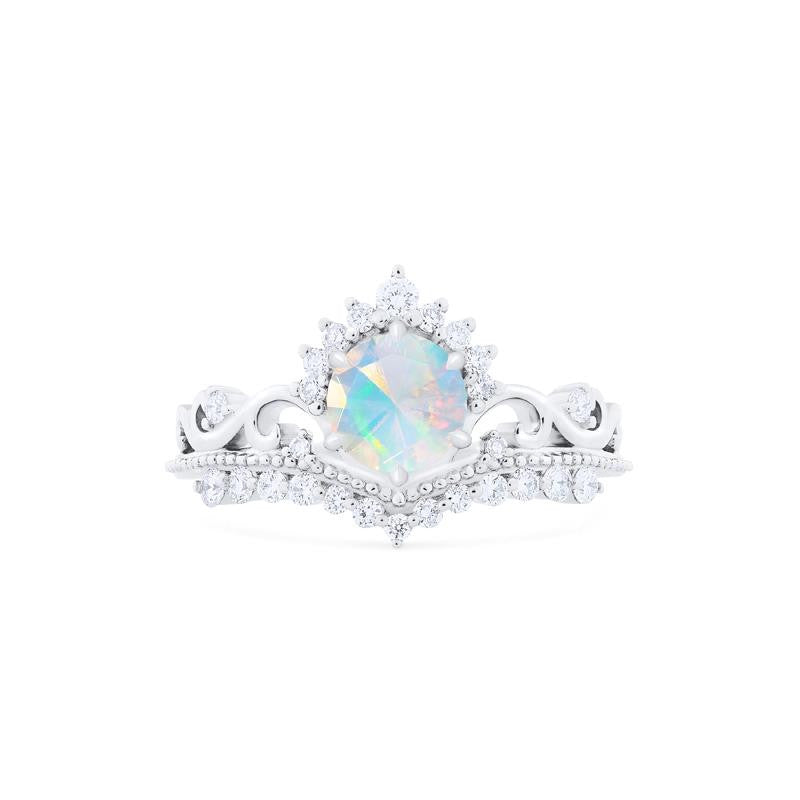 [Theia] Ready-to-Ship Heirloom Crown Ring in Opal - Women's Ring - Michellia Fine Jewelry