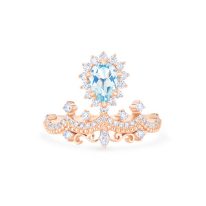 [Angelique] Guardian Angel Chandelier Ring in Aquamarine - Women's Ring - Michellia Fine Jewelry
