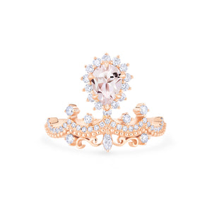 [Angelique] Guardian Angel Chandelier Ring in Morganite - Women's Ring - Michellia Fine Jewelry