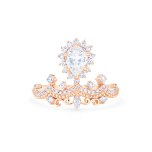 [Angelique] Guardian Angel Chandelier Ring in Moissanite - Women's Ring - Michellia Fine Jewelry