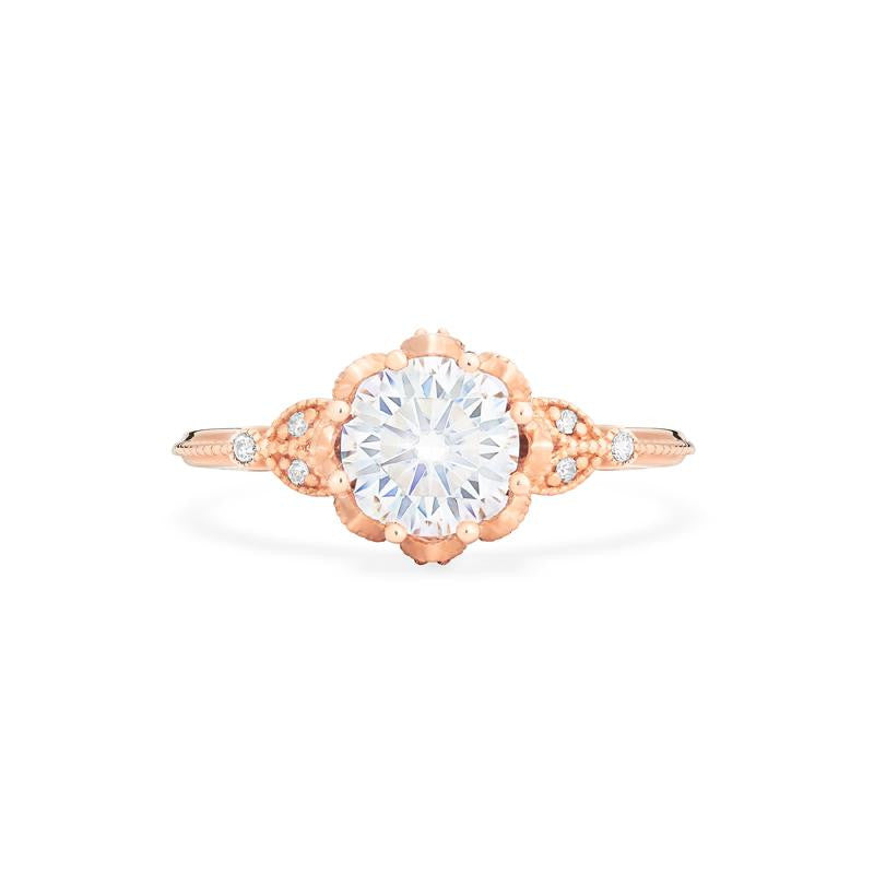 [Evanthe] Vintage Floral Ring in Moissanite - Women's Ring - Michellia Fine Jewelry