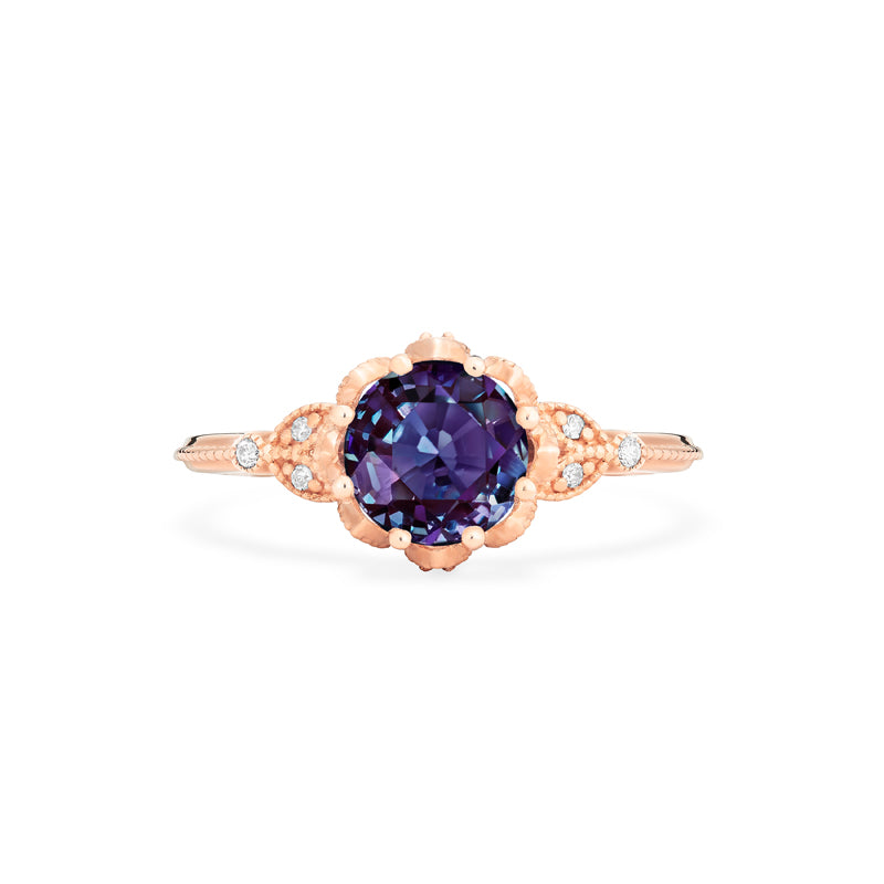 [Evanthe] Vintage Floral Ring in Lab Alexandrite - Women's Ring - Michellia Fine Jewelry