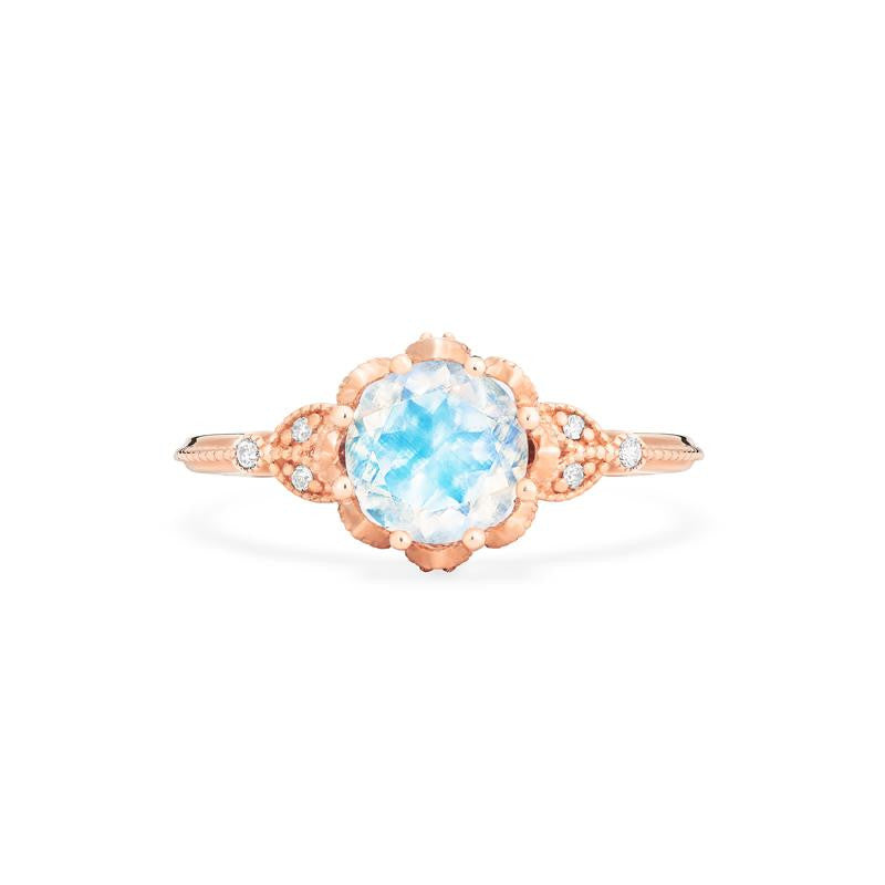 [Evanthe] Vintage Floral Ring in Moonstone - Women's Ring - Michellia Fine Jewelry
