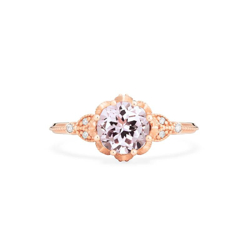 [Evanthe] Vintage Floral Ring in Morganite - Michellia Fine Jewelry
