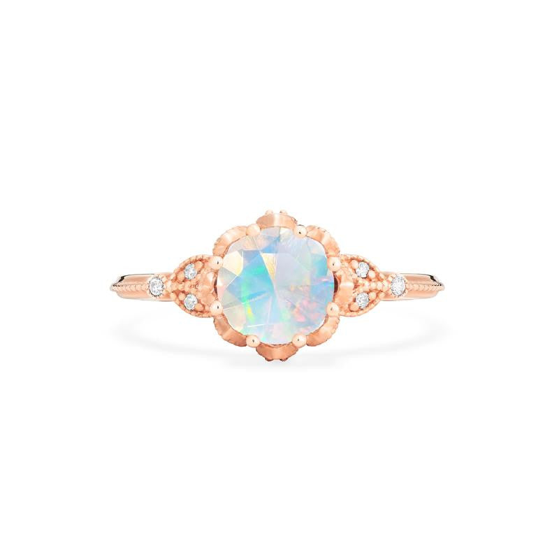 [Evanthe] Vintage Floral Ring in Opal - Michellia Fine Jewelry