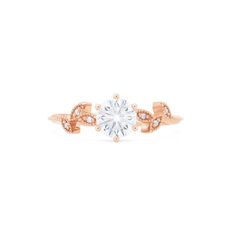 [Dahlia] Petite Floral Ring in Moissanite - Michellia Fine Jewelry