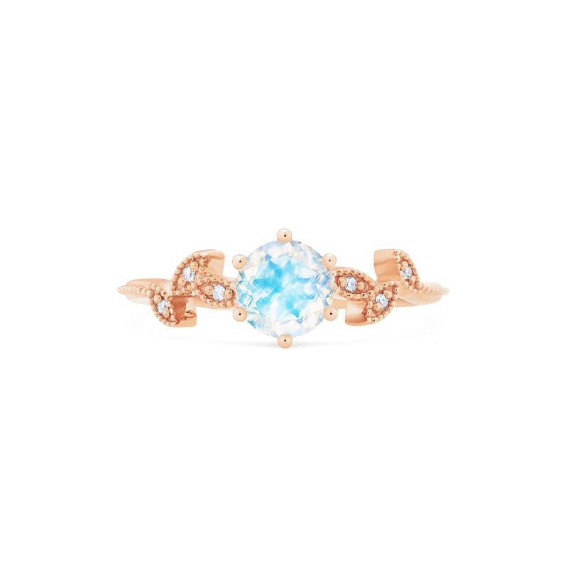 [Dahlia] Petite Floral Ring in Moonstone - Michellia Fine Jewelry