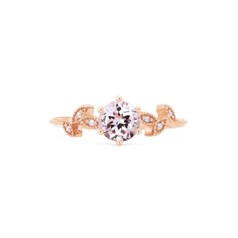[Dahlia] Petite Floral Ring in Morganite - Michellia Fine Jewelry